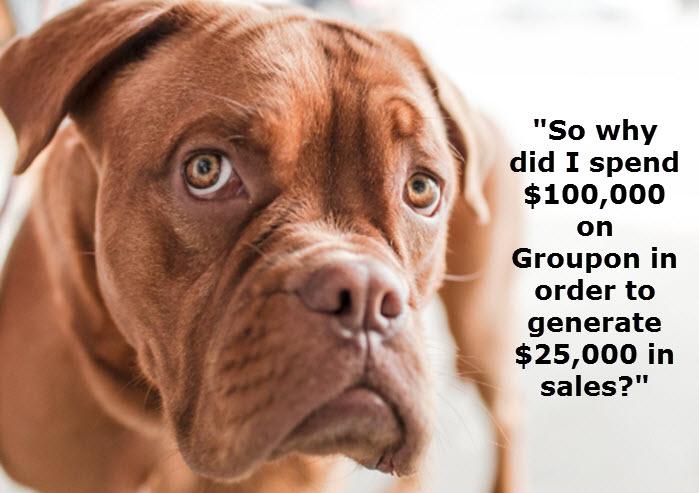 Dog Sad Over Groupon Decision