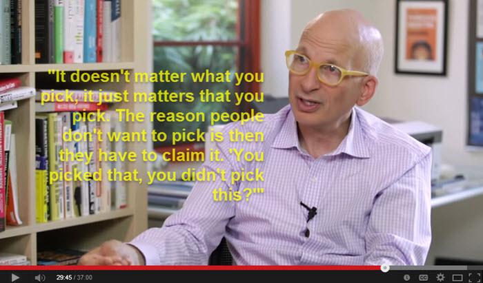 Seth Godin on Making a Decision
