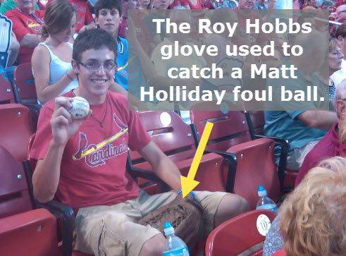 Glove purchased from Pro Athlete, Inc. used to catch foul ball.